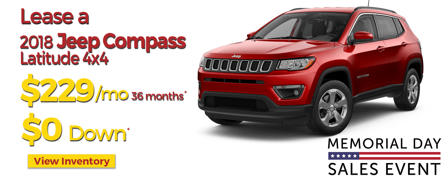 April Jeep Lease Offers at LHM Chrysler Jeep Dodge Ram Riverdale