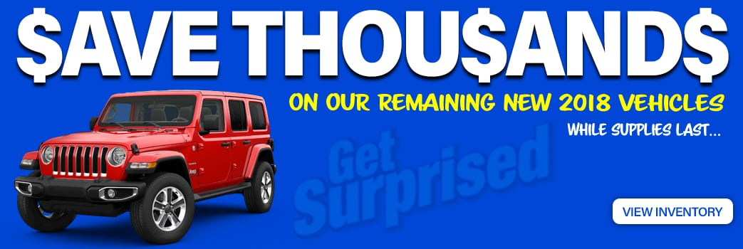 2018 Clearance at Larry H. Miller Chrysler Jeep Dodge Ram Surprise