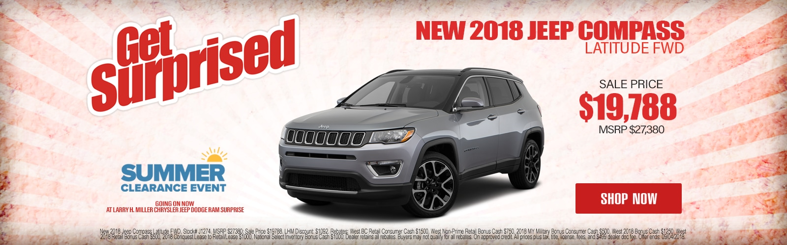 New 2018 Jeep Compass Latitude FWD Starting As Low As $19,788 at Larry H. Miller Chrysler Jeep Dodge Ram Surprise