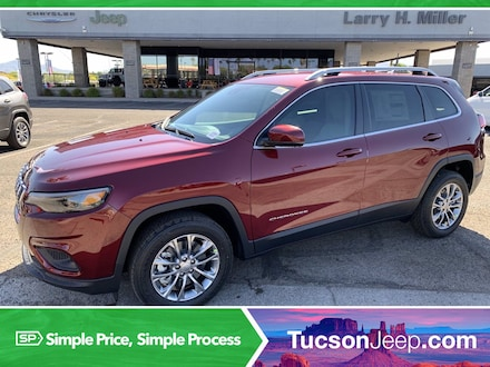 Featured New 2021 Jeep Cherokee LATITUDE LUX FWD Sport Utility Front-wheel Drive for sale near you in Tucson, AZ
