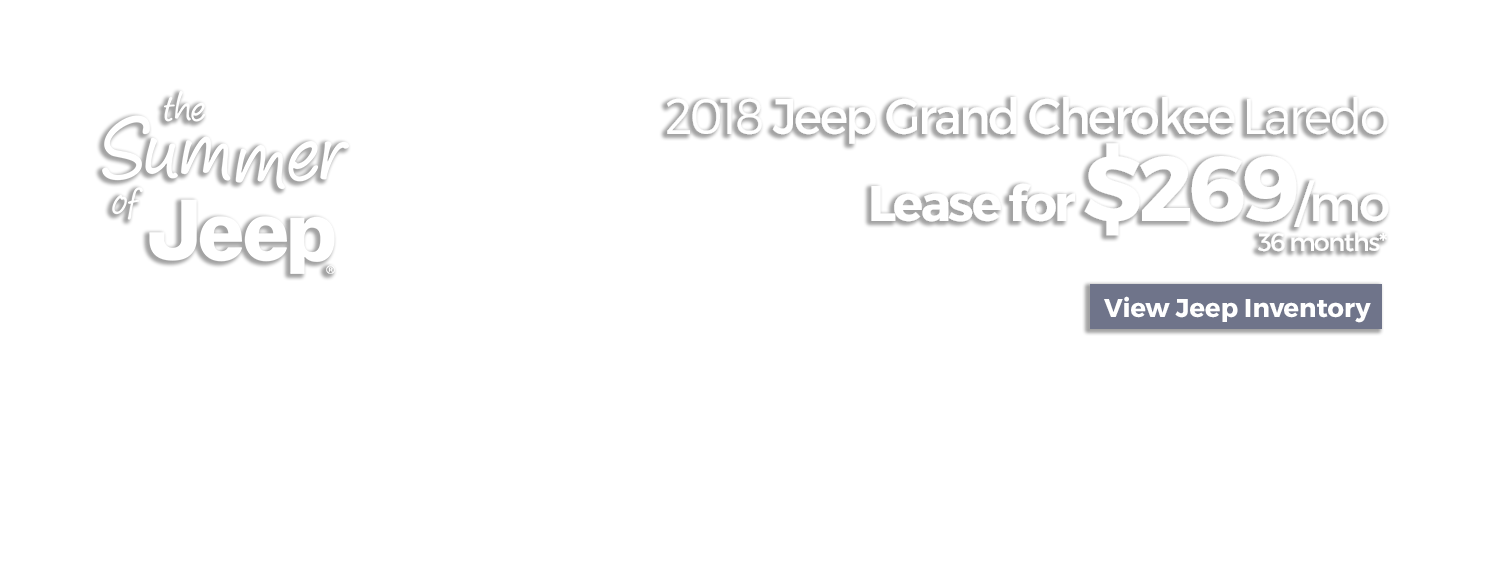 Lease a 2018 Jeep Grand Cherokee Laredo for $269/mo for 36 Months at LHM Chrysler Jeep Dodge Ram Sandy