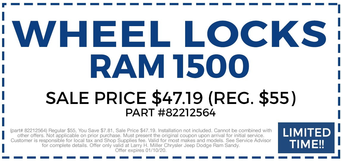 Ram 1500 Wheel Locks $47.19