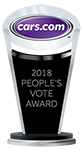 2018 Jeep Grand Cherokee won Cars.com People's Vote Award for 2018