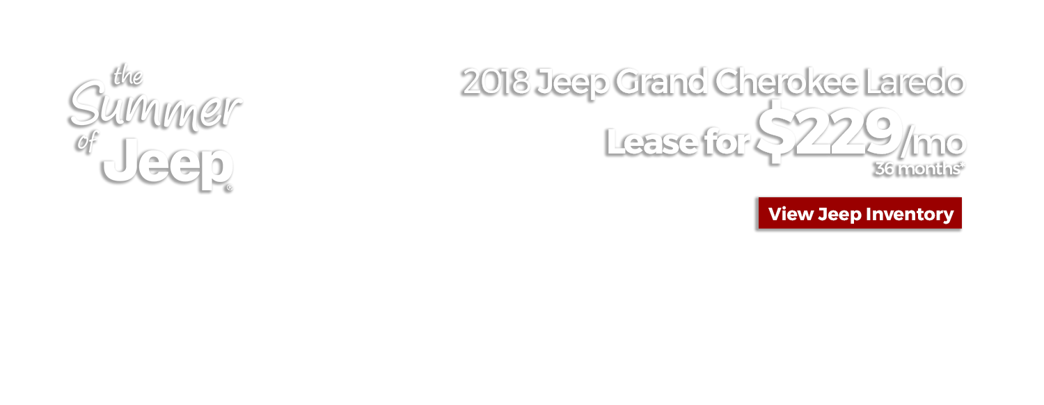 Lease a 2018 Jeep Grand Cherokee Laredo for $229/mo for 36 Months at LHM Chrysler Jeep Dodge Ram Sandy