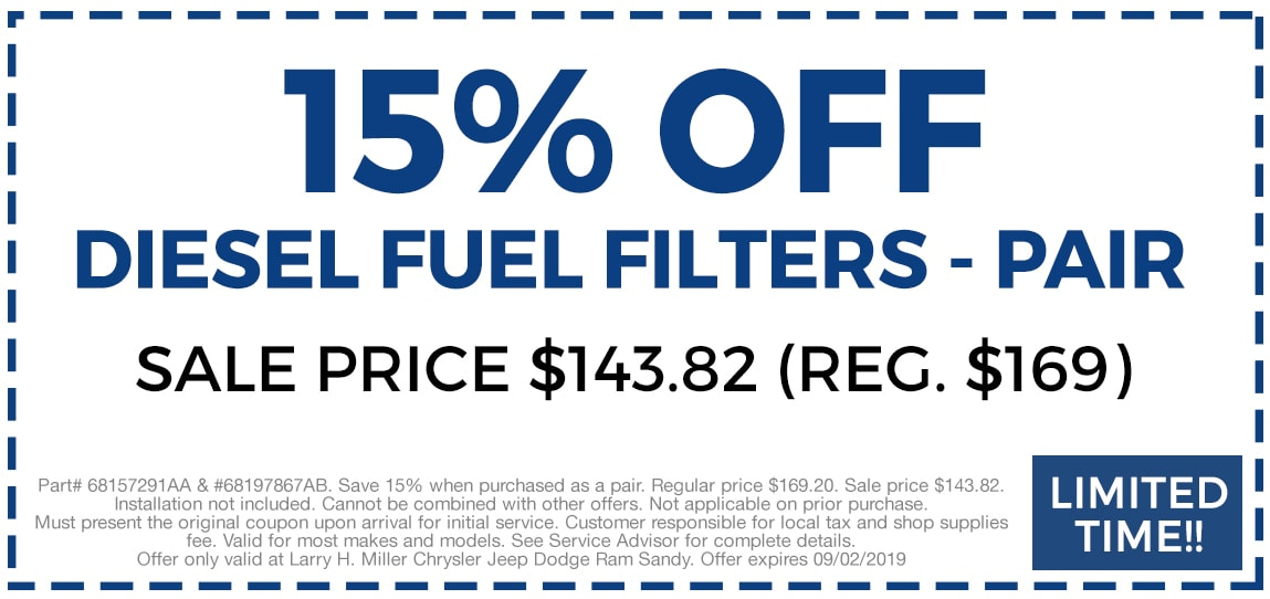 15% Off Diesel Fuel Filters