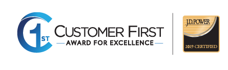 2019 Customer First Award For Excellence Certified by J.D. Power Winner