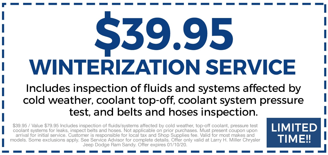 Winterization Services $39.95