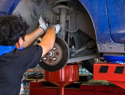 Brake Service with Machining Rotors
