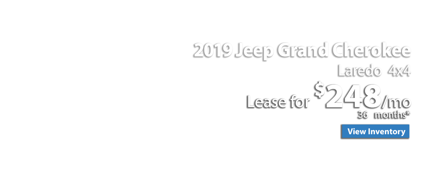 2019 Jeep Grand Cherokee Laredo 4x4 Lease for $248/mo.