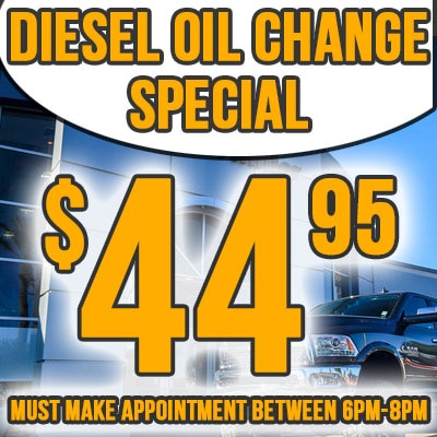 Avondale Dodge Express Hours Special Diesel Oil Change Coupon