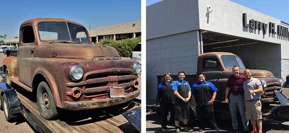 1953 dodge pickup arrives in avondale, az