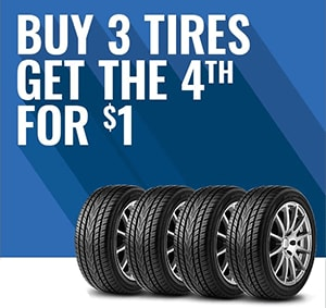Buy 3 Tires and Get the 4th for $1