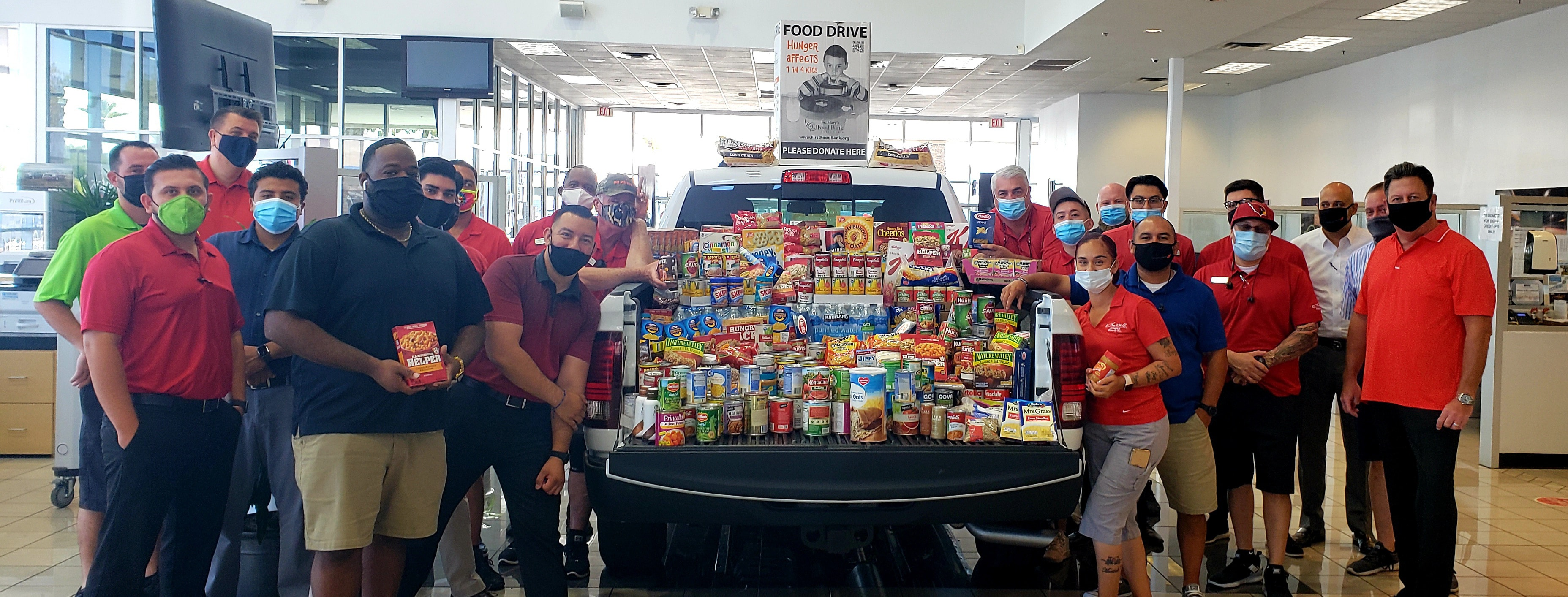 Driven to Assist Food Donations to St. Mary's Food Bank