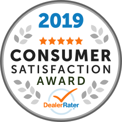 2019 Dealer Rater Customer Satisfaction Award