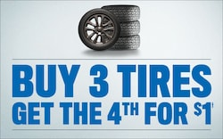 4th Tire for $1!