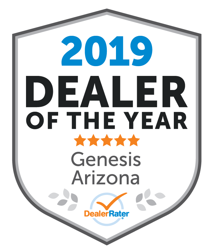 2019 Arizona Genesis Dealer of the Year Award from Dealer Rater