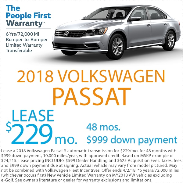 Denver Volkswagen Passat Lease Deal