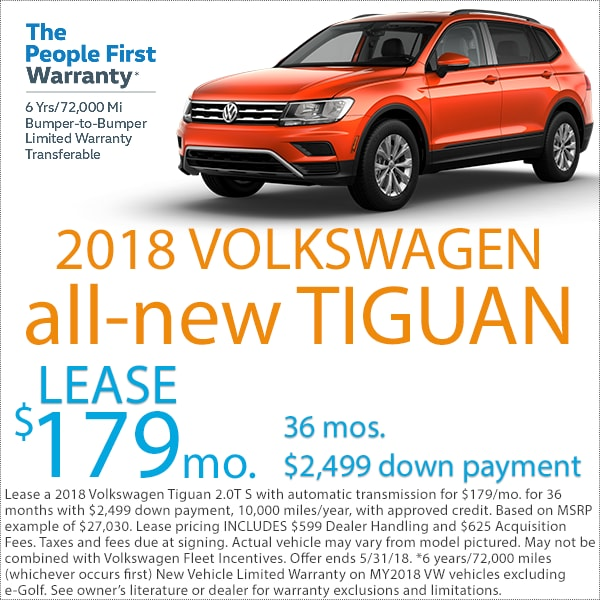 Lakewood Volkswagen Tiguan Lease Deal
