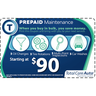TCA Pre-Paid Maintenance Package