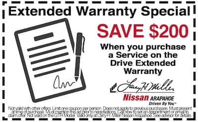 Save $200 when you purchase an extended Warranty Package