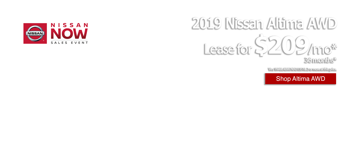 Lease a new 2019 Nissan Altima for only $209/mo at LHM Nissan Arapahoe