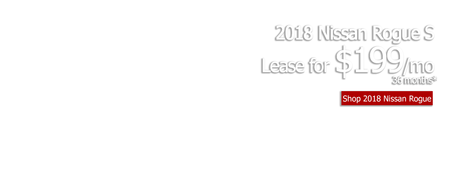 Lease a new 2018 Nissan Rogue S for $199/mo for 36 months at LHM Nissan Arapahoe