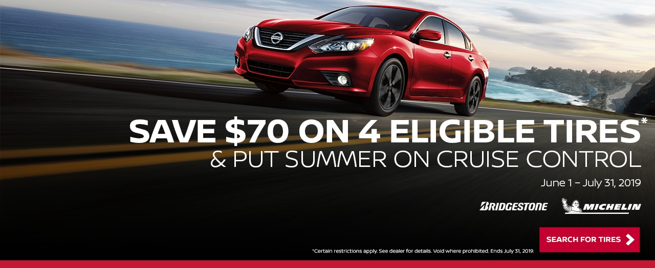 Put Summer on Cruise Control, Save on Tires Today at Larry H Miller Nissan San Bernardino Service Center