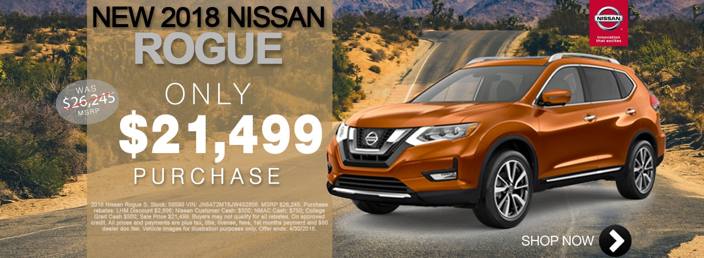 New Nissan Rogue For Sale April Monthly Special Net $21,499 Larry H Miller Nissan San Bernardino