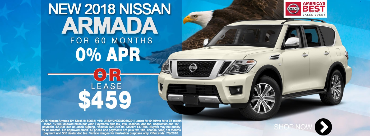 New Nissan Armada For Lease June Monthly Special Net $459/mo for 36 months Larry H Miller Nissan San Bernardino