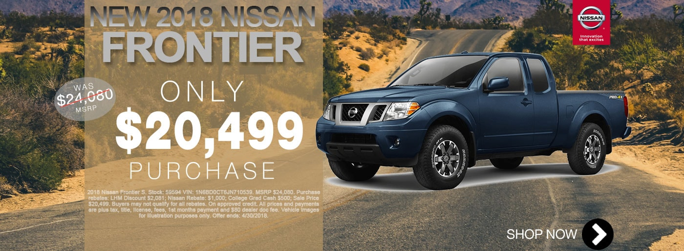 New Nissan Frontier For Sale April Monthly Special Net $20,499 Larry H Miller Nissan San Bernardino