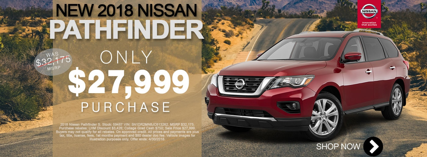 New Nissan Pathfinder For Sale April Monthly Special Net $27,999 Larry H Miller Nissan San Bernardino