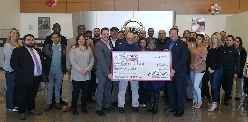 Larry H. Miller Nissan San Bernardino Gives Back to the Community at Children's Fund