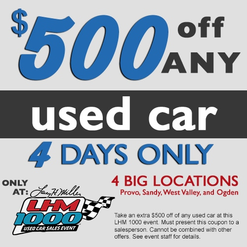 LHM1000 Used Care Sales Event