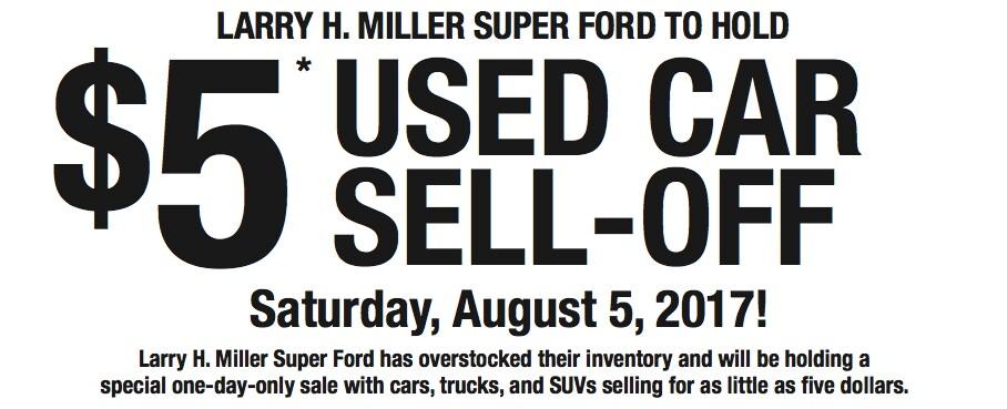 5 used car sell off larry h miller super ford salt lake city. Black Bedroom Furniture Sets. Home Design Ideas