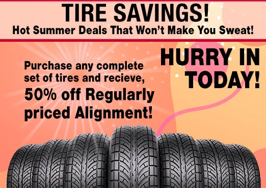 Tire and Alignment Service Coupon Toyota Corona