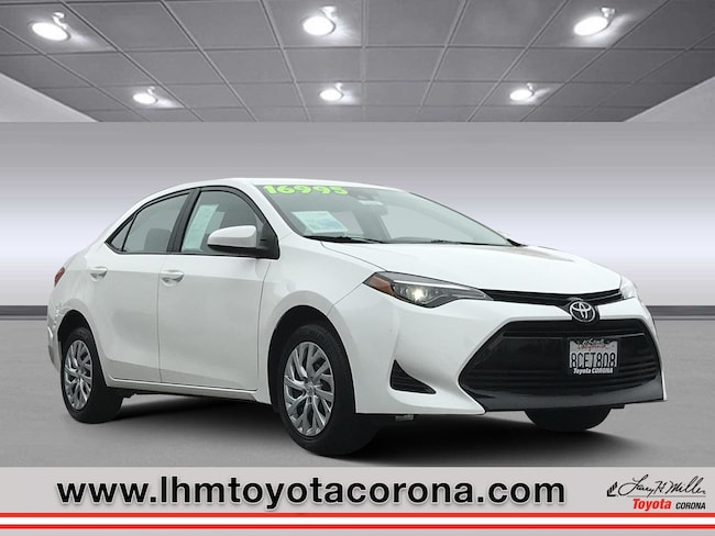 Used 2018 Toyota Corolla LE Sedan Corona
