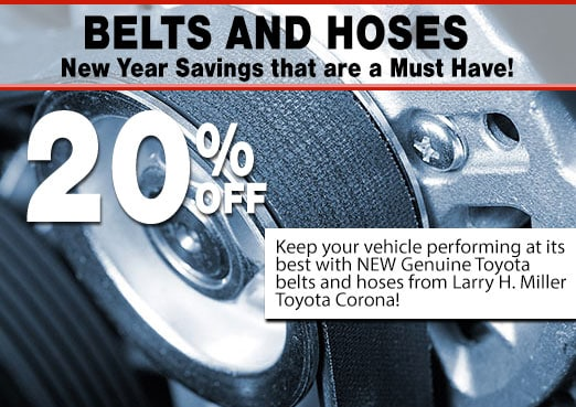 Belts and Hoses Special Coupon Toyota Corona
