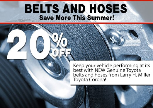 Belts and Hoses Parts Special Coupon Toyota Corona