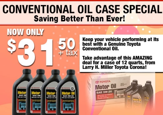 Conventional Oil Case Special Coupon Toyota Corona