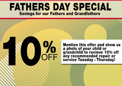 10% Fathers Day Service Coupon Toyota Corona