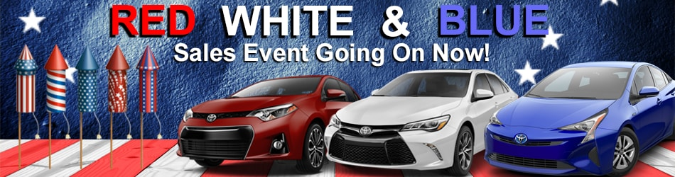 Red White And Blue Auto Sales >> Red White Blue Sales Event Going On Now Larry H Miller Toyota