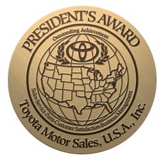 2017 Presidents Award Toyota Corona California