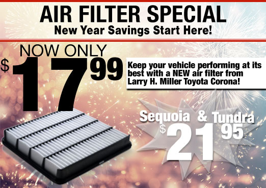 Air Filter  Special Coupon Toyota Corona