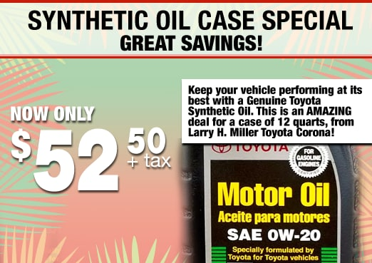 Synthetic Oil Case Parts Special Coupon Toyota Corona