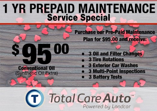One Year Prepaid Maintenance Service Coupon Toyota Corona