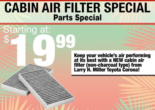 Cabin Air Filter Parts Special Coupon Toyota Corona