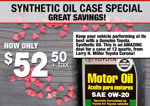 Synthetic Oil Case Special Coupon Toyota Corona