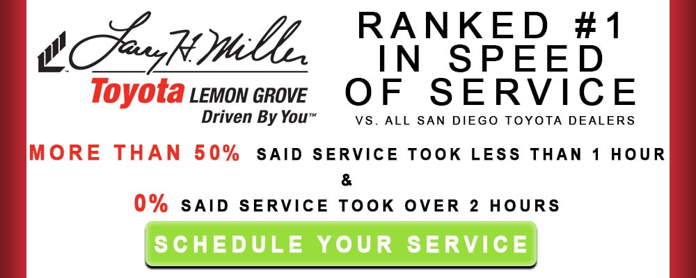 Schedule Service Today at Larry H Miller Toyota Lemon Grove