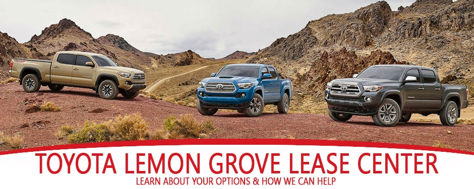 Toyota End of Lease options Larry H Miller Toyota Lemon Grove near San Diego