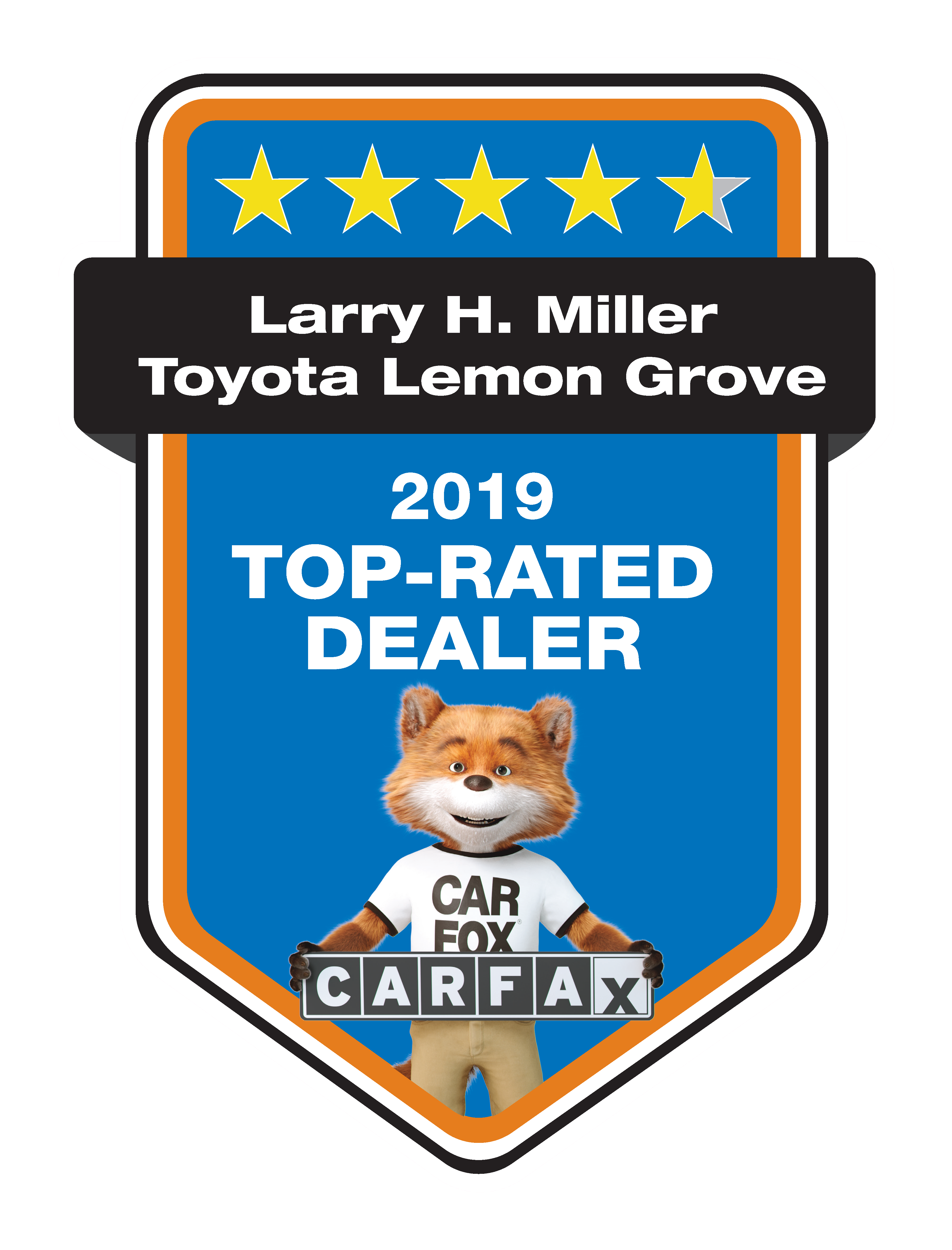 CarFax Top-Rated Dealer at Larry H Miller Toyota Lemon Grove